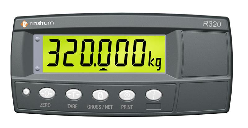 Đầu hiển thị cân, bộ hiển thị đầu cân R320 Rinstrum