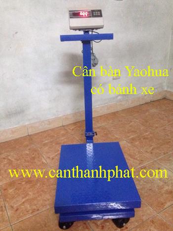 Cân bàn điện tử Yaohua có bánh xe