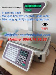 Cân điện tử in tem mã vạch wifi